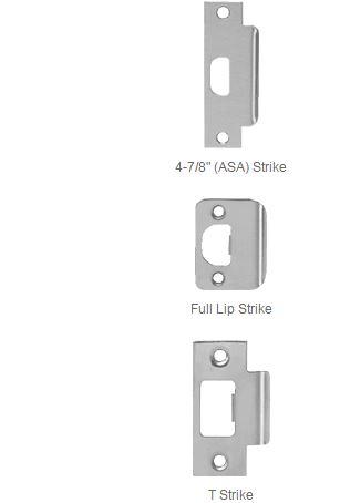 PDQ SX Series Grade 1 Cylindrical Lock Strikes | PDQ Door Knob Locks Strike