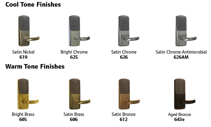 Schlage Finishes