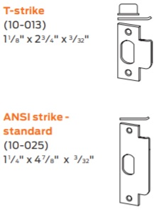 Available Strikes for SchlageND25x70 Series Locks