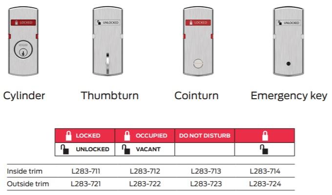 Schlage L9077 Sectional Indicators | Schlage LV9077 Sectional Indicators | Schlage Lock with Locked Unlocked Indicators