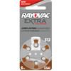 60 RAYOVAC EXTRA SIZE 312 HEARING AID BATTERIES