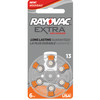 60 Rayovac Extra Advanced, Hearing Aid Batteries Size 13 (60 Batteries)