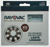 New Rayovac Proline Advanced Size 312, Active Core. 48 Batteries, Made in USA