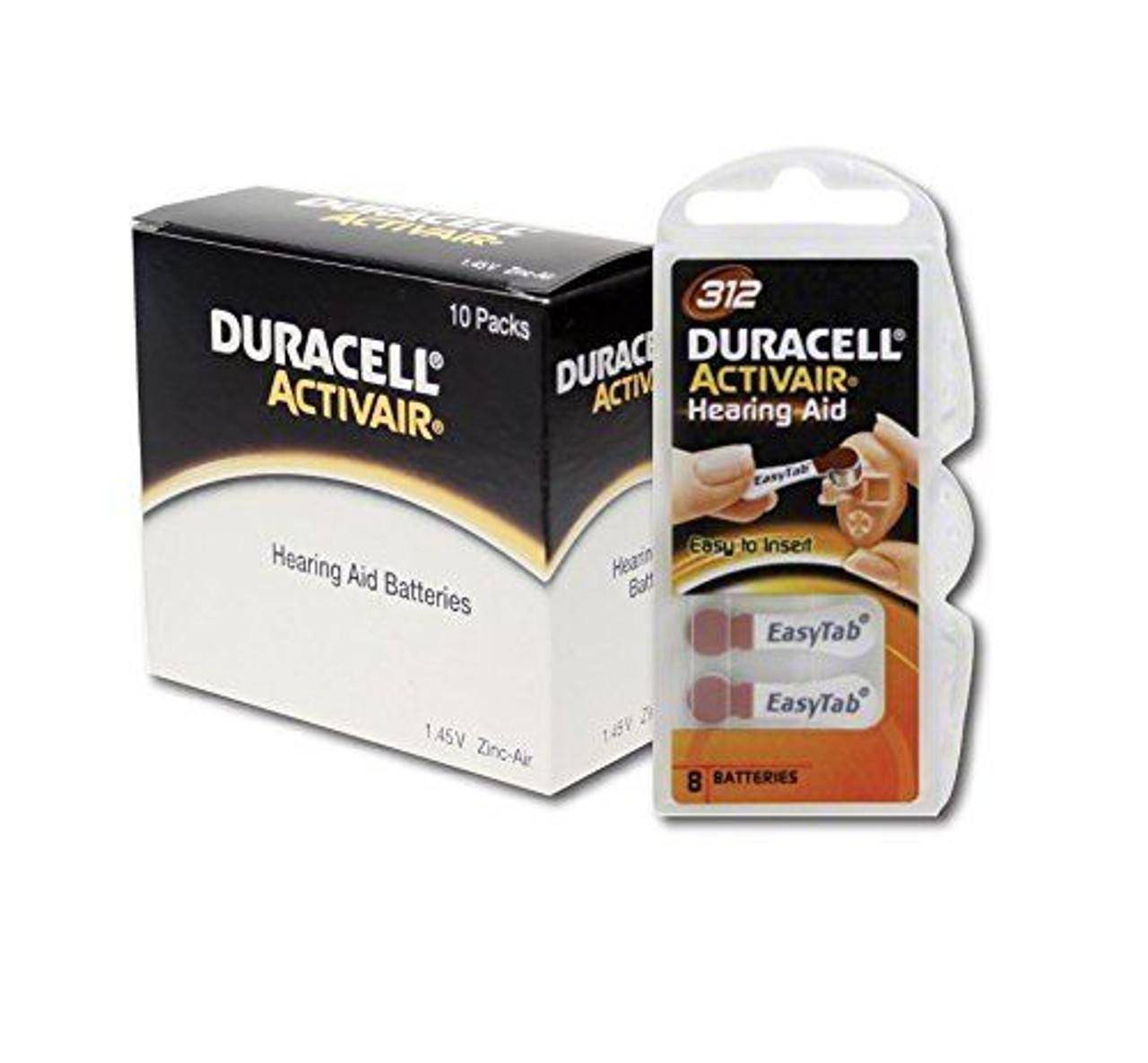180 x Duracell Activair Hörgerätebatterien Größe 312 Hearing AID 30x6 Stück 6134