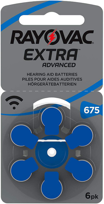 Rayovac Extra Advanced Hearing Aid Batteries Size 675 (Total of 30 Batteries) + Keychain