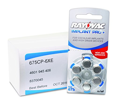 Rayovac New Implant Pro + Plus Cochlear Implant Batteries