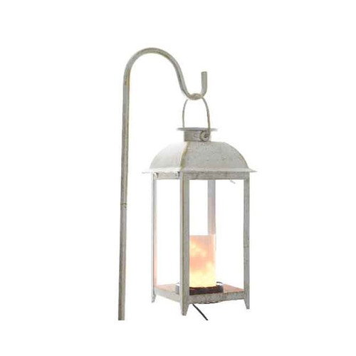 Indoor/Outdoor Led Flame Lantern White