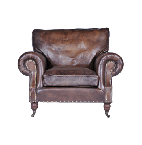 Balmoral Antique Whiskey Armchair