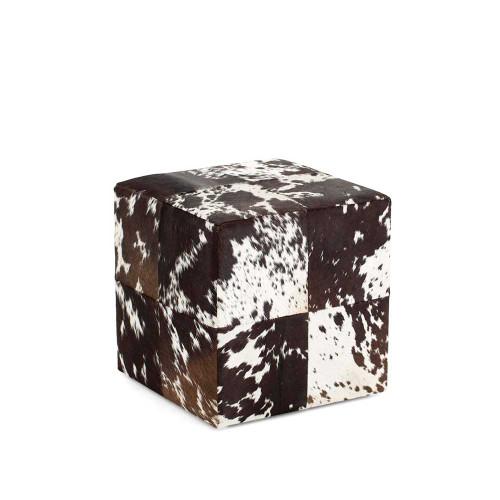 Flamant Footstool Leelo Brown/White