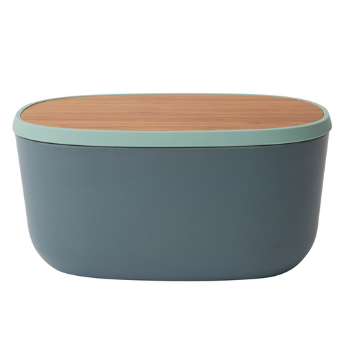 Bread box with bamboo cutting board - Leo