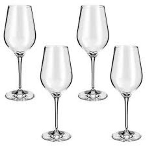 Crystalline Set Of 4 White Wine Glasses