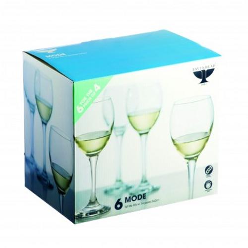 Mode White Wine Glasses (Set of 4 + 2 Free)