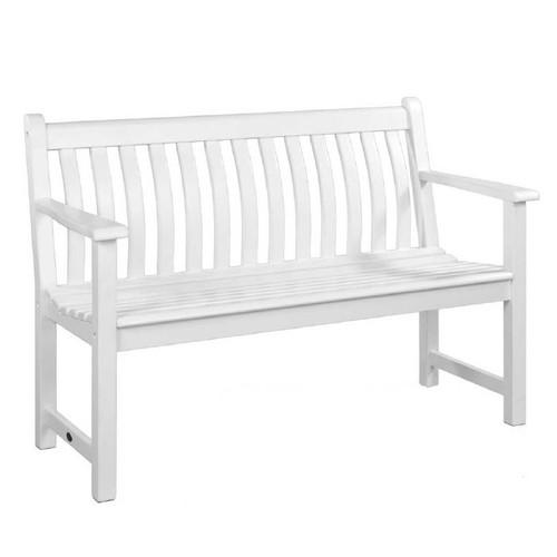 Alexander Rose 4ft Broadfield White Bench