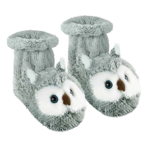 Knitted Animal Booties - Owl