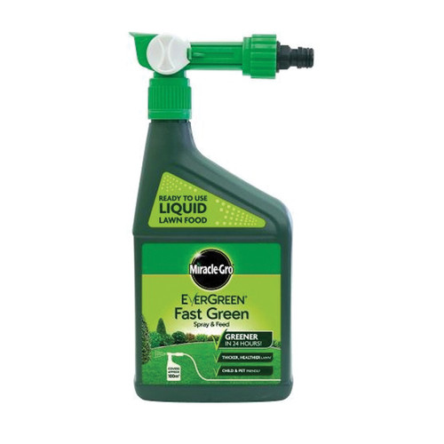 Miracle-Gro Evergreen Fast Green Spray & Feed Lawn Food - 1LT