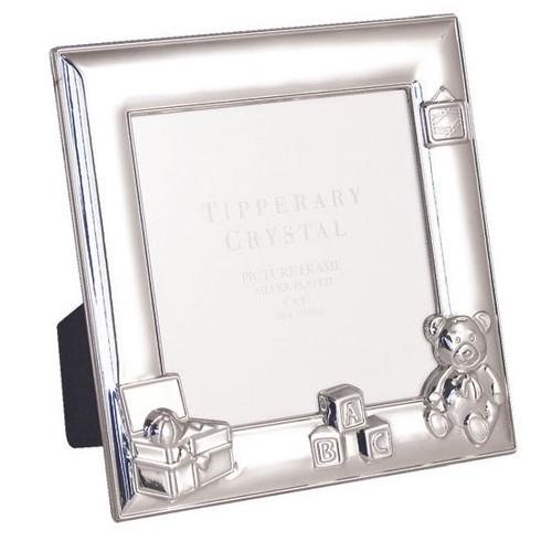 "Tipperary Crystal Baby Bear Frame 4""X4"""