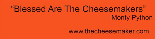Blessed are the Cheesemakers - Bumper Sticker