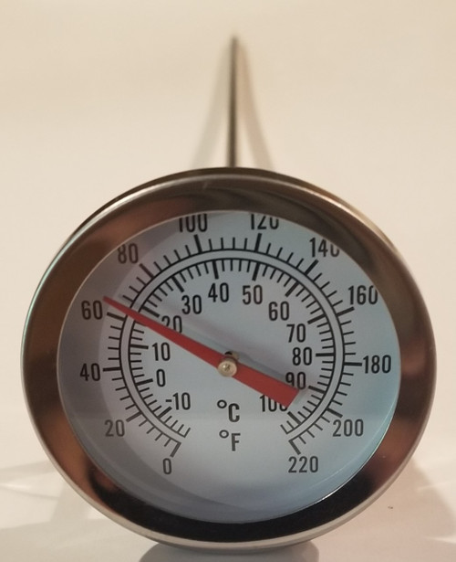 Stainless Steel Thermometer-Long Stem with Clip