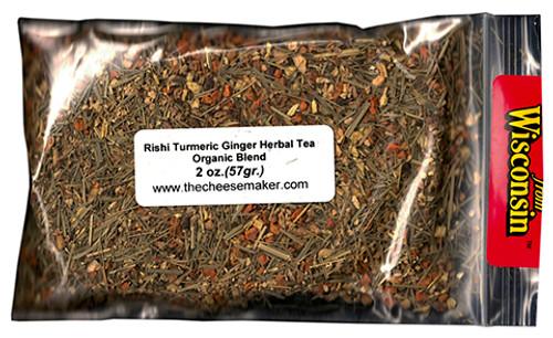 Rishi Turmeric Ginger Caffeine Free Herbal Blend Organic Tea
