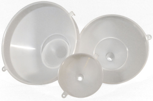 Heavy Duty Food Grade Plastic Funnel-Set of Five-Wholesale