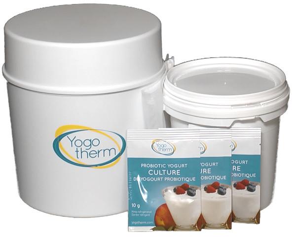 Deluxe Yogurt Making Kit/Thermometer/Draining Bag/Three Cultures
