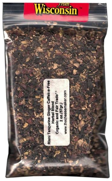 Rishi Tangerine Ginger Caffeine Free Herbal Blend Organic and Fair Trade™ Tea
