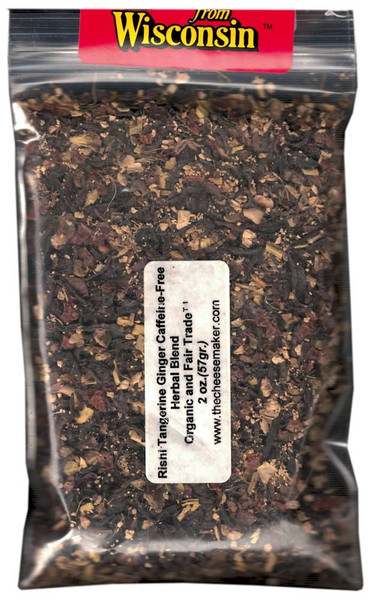 Rishi Tangerine Ginger Caffeine Free Herbal Blend Organic and Fair Trade™ Tea