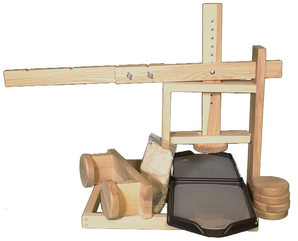 Dual Dutch Style Cheese Press with Two Whey Drainage Trays& Inserts-Wholesale-4 presses