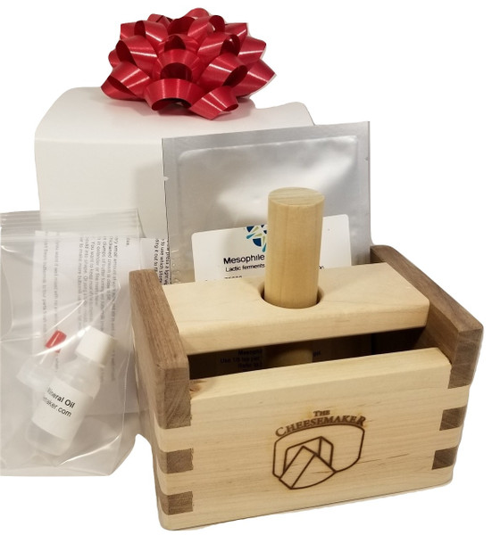 Walnut or Cherry & Maple Butter Press & Culture-Gift Boxed