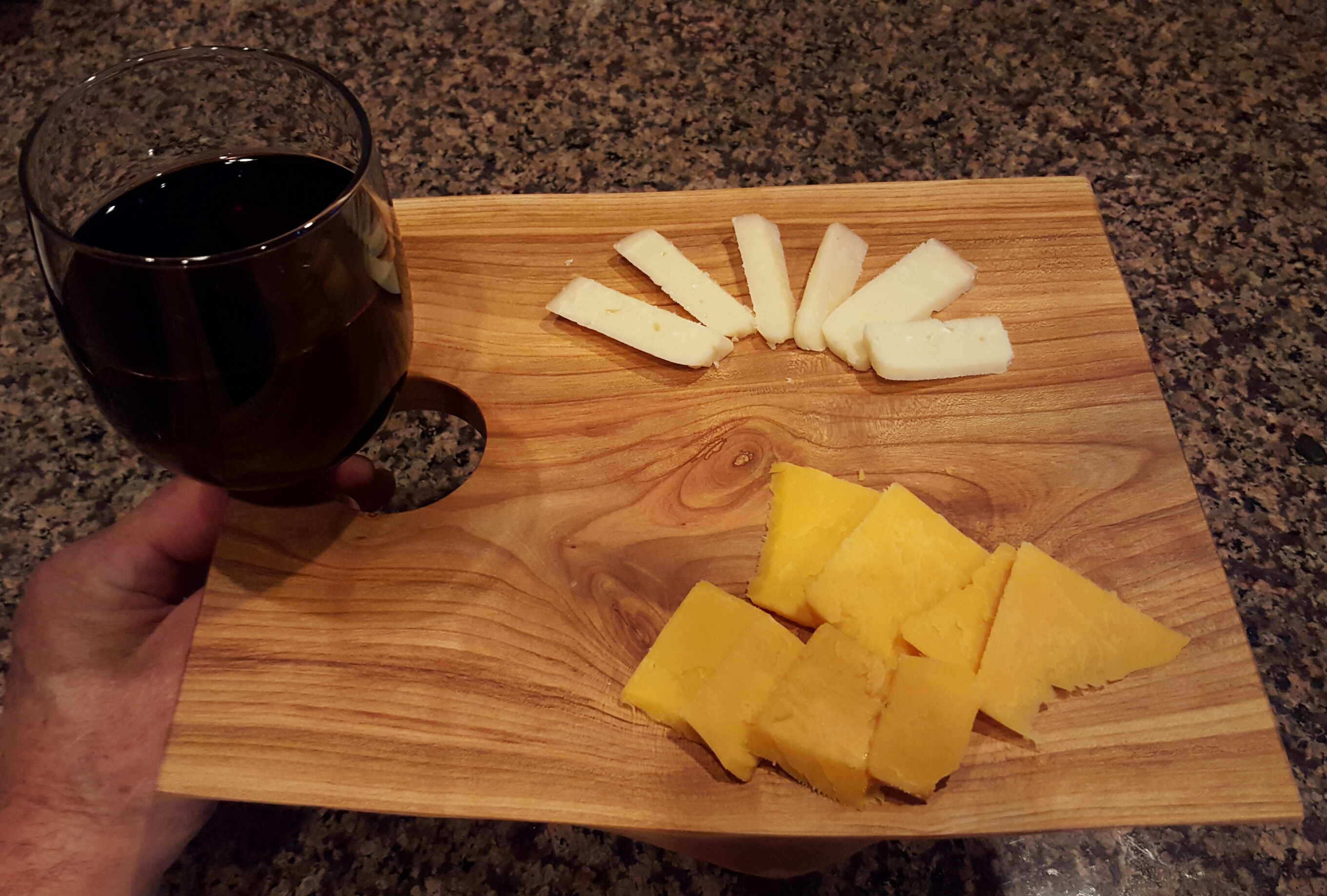 Wine and Cheese Serving Board