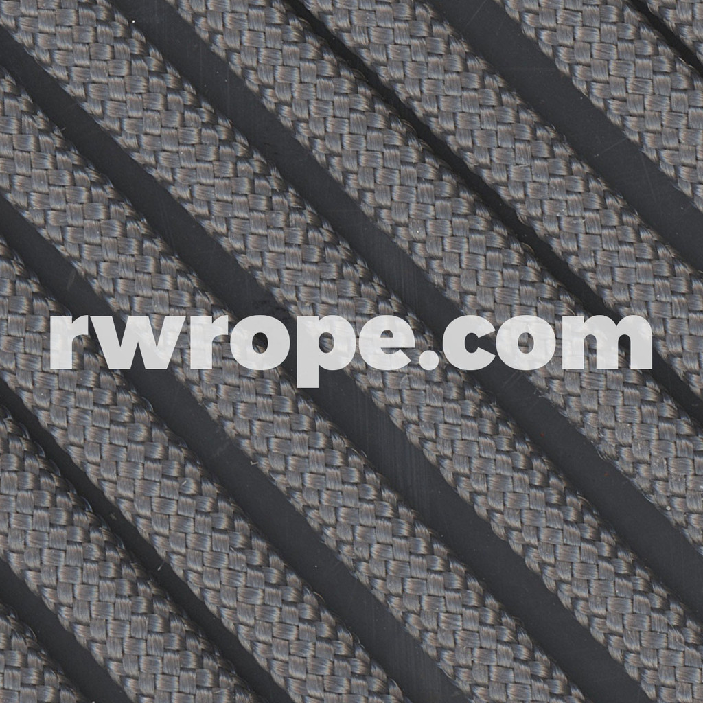 650 Flat Coreless Paracord in charcoal.