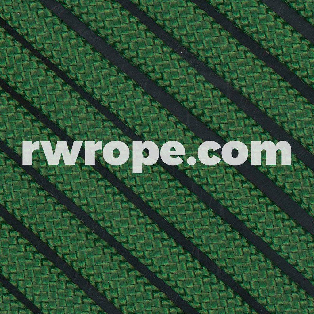 650 Flat Coreless Paracord in kelly green.