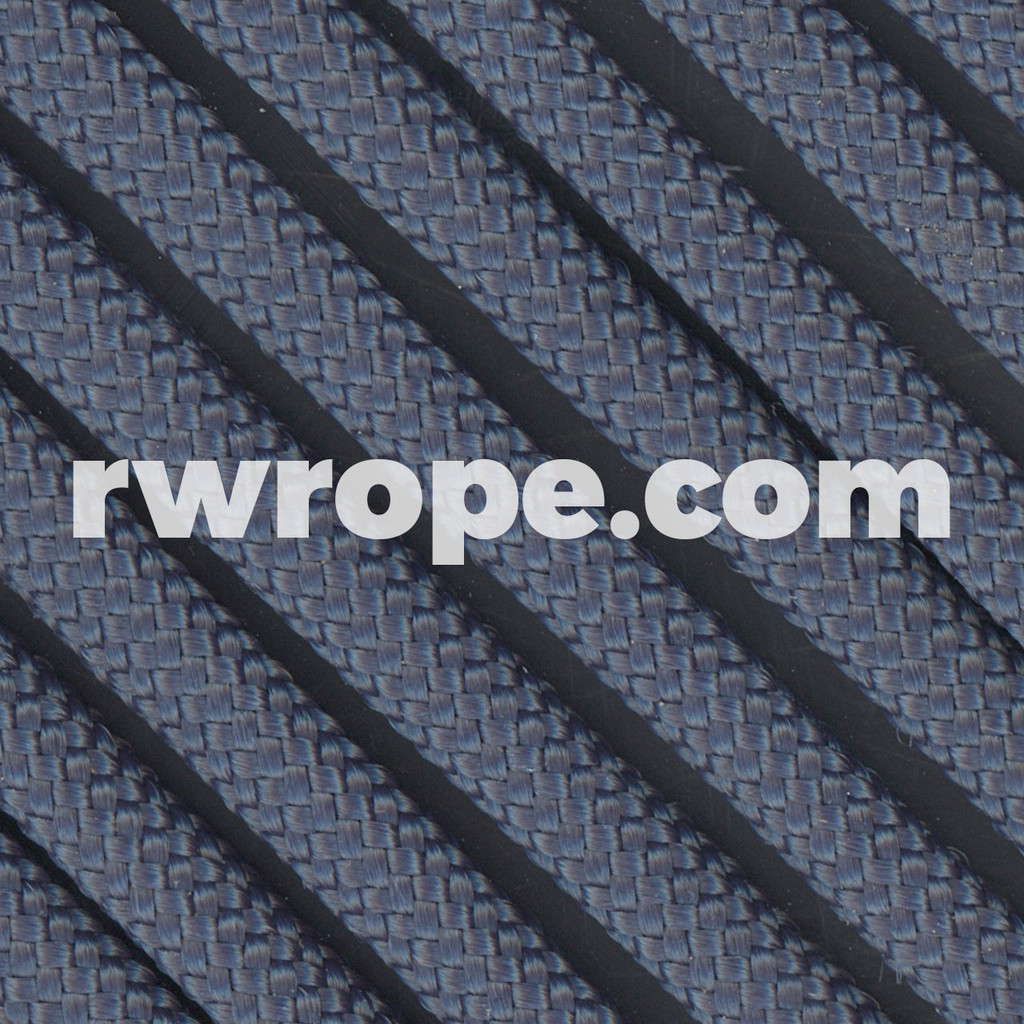 650 Flat Coreless Paracord in federal standard navy blue.