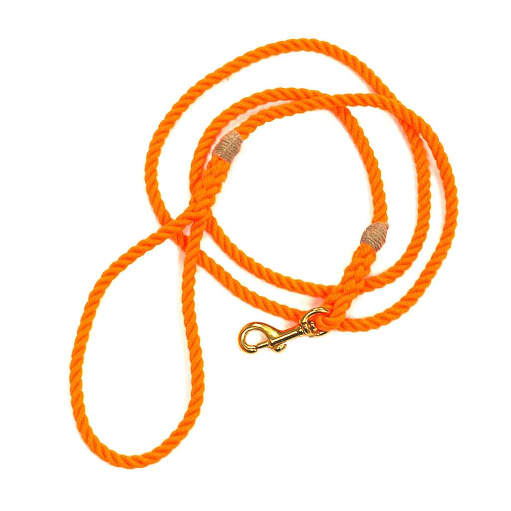 Langman POSH Rope Dog Leash - Orange