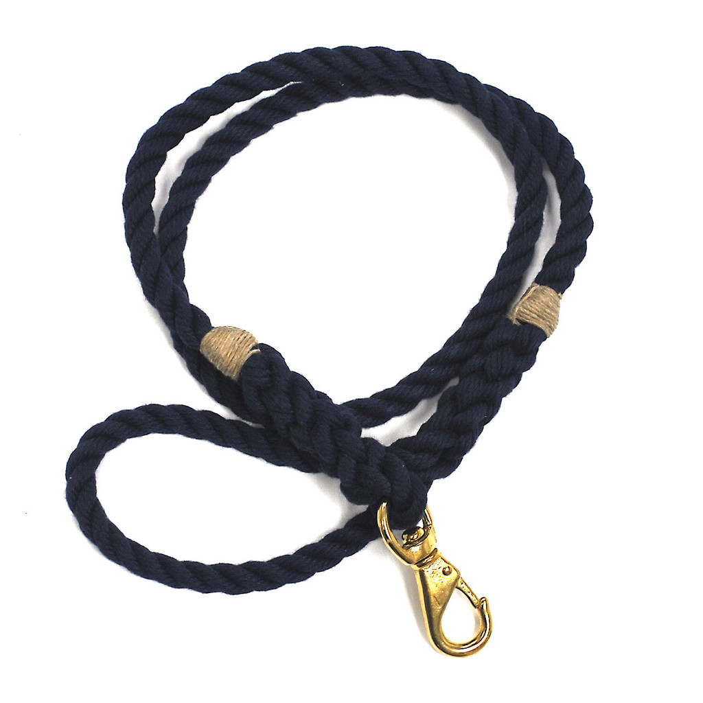 Langman POSH Rope Dog Leash - Navy