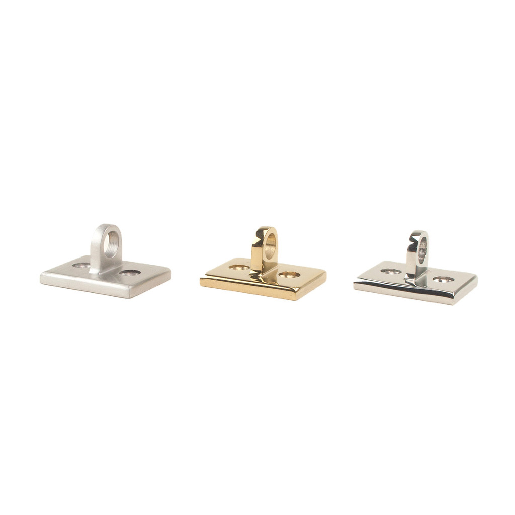 Wall Plate End Bracket in Stainless, Chrome and Brass.