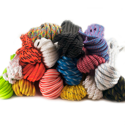 Nylon Rope Remnant Hanks - Assorted Braids and Colors