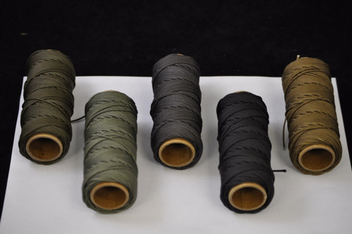 Handy Hundred Cord - Dark Color Group (L to R):  Dark Bronze, Smoke, Raw Umber, Solution Dyed Black, Nutmeg