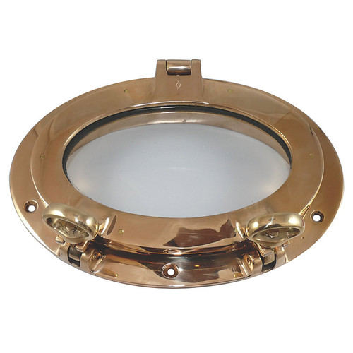 Davey & Company Polished Bronze Portlight - Oval Opening