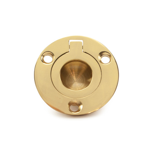round brass flush pulling ring