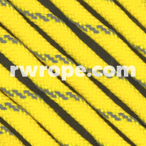 Paracord 550 in Neon Yellow With Reflective Fleck.