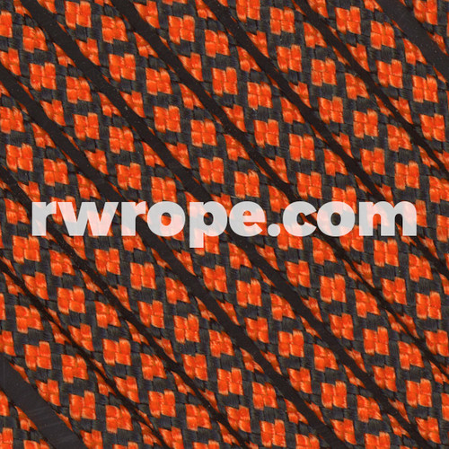 Paracord 550 in Neon Orange Diamonds