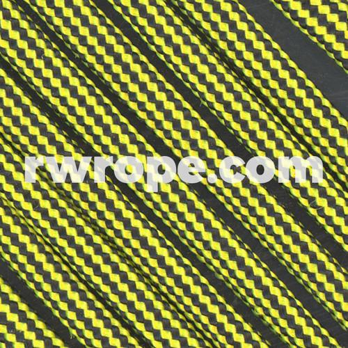 Paracord 550 in Neon Yellow And Black Stripe