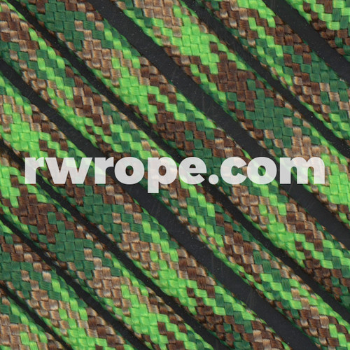 95 Paracord Type 1 in Neon Green Flame Camo.