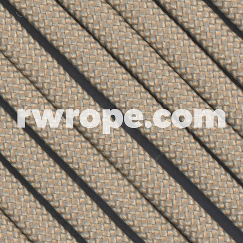 650 Flat Coreless Paracord in tan.