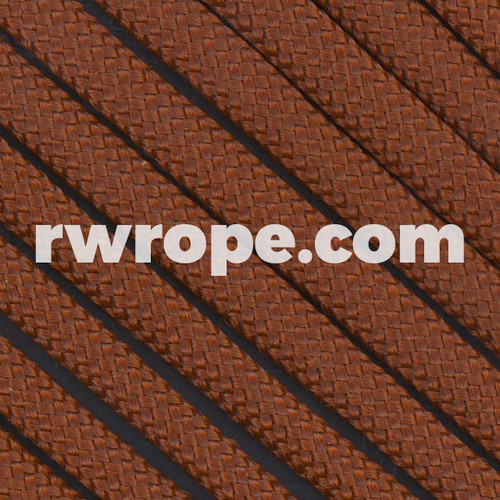 650 Flat Coreless Paracord in chocolate.