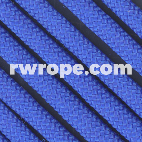 650 Flat Coreless Paracord in royal blue.