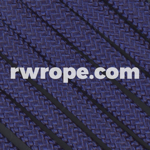 650 Flat Coreless Paracord in midnight blue - navy.