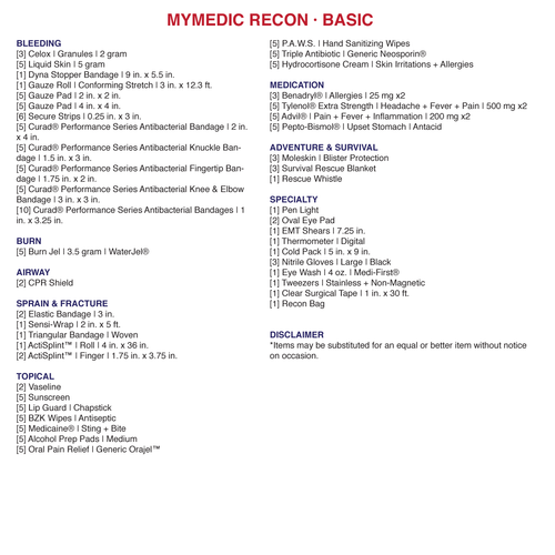 MyMedic - The Recon First Aid Kit
