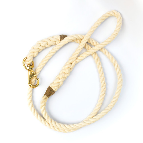 Langman POSH Rope dog leash - off white